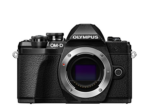 Olympus OM-D E-M10 Mark III - 16.1 MP Evil Camera (4k, FHD, LCD, Flip-Down Display, Touch, WiFi, 8.5 frames per second, OLED) Black - Body Only