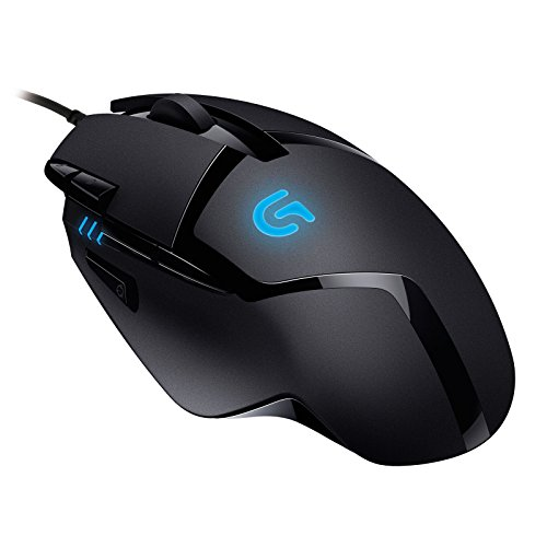 Logitech G402 Hyperion Fury Wired Gaming Mouse, 4,000 DPI Optical Tracking, Reduced Weight, 8 Programmable Buttons, Black PC/Mac