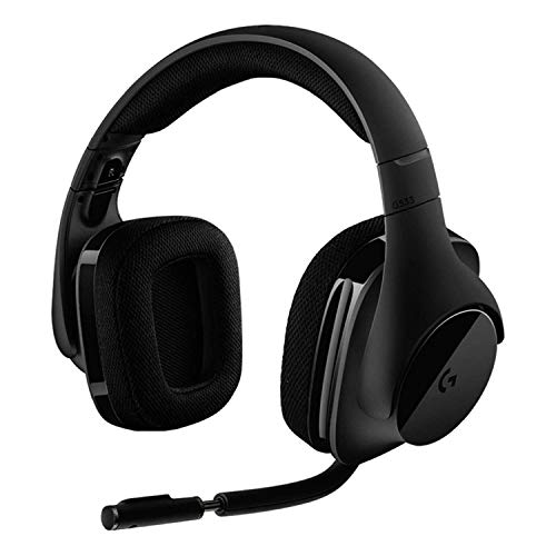 Logitech G533 - Wireless Gaming Headset, 7.1 Surround DTS Headphone X 3D Positional Audio, 40mm Pro-G Drivers, Microphone, 2.4 GHz, USB Port, 15 Hour Battery, PC/Mac, Black