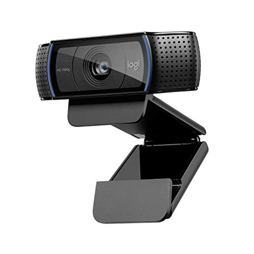 Logitech C920 HD Pro Webcam, 1080P FULL HD 1080p/30 fps, Stereo Sound, HD Lighting Correction, Skype/Google Hangouts/FaceTime, Gaming, Laptop/PC/Mac/Android