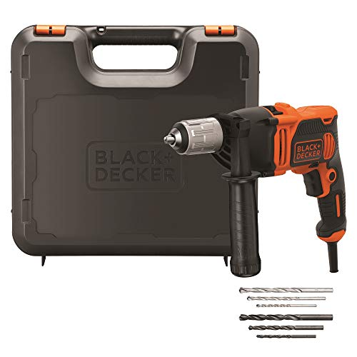 BLACK+DECKER BEH850K-QS - Hammer Drill with Cable 850W, 13Mm Drill Chuck, includes 6 bits and case