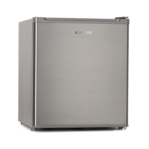 Klarstein Garfield Eco - 4 Star Mini-Freezer, Fridge 34 Litres Capacity, 117 kWh/year, 2 Levels, Quiet 41 dB, Removable Grill, Compact, Energy Class A ++, Silver