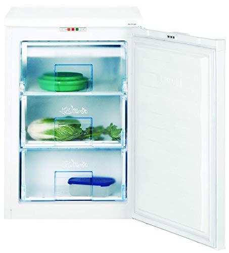 Beko FNE 1072 Mini freezer, under counter, 90 litres, Steel, White