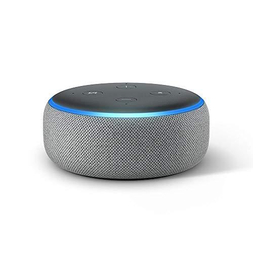 Echo Dot (3rd generation) - Smart speaker with Alexa, dark grey fabric