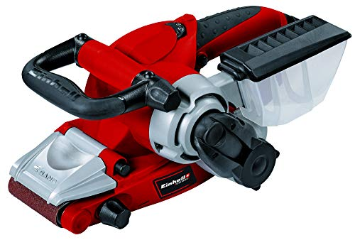 Einhell Electronic belt sander (RT-BS 75), 850 W, adapter for an extraction system, non-slip handle