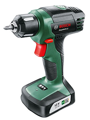 Bosch EasyDrill 12 - Battery-operated screwdriver (12 V, with integrated battery, charger, screwdriver tip)