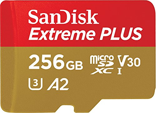 SanDisk Extreme PLUS - 256GB microSDXC memory card with SD adapter, A2, up to 170MB/s, Class 10, U3 and V30