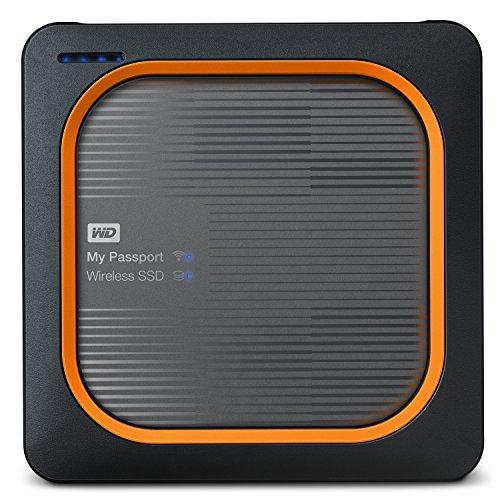 Western Digital My Passport - External Hard Drive, Wireless SSD, 250 GB, Black and Red