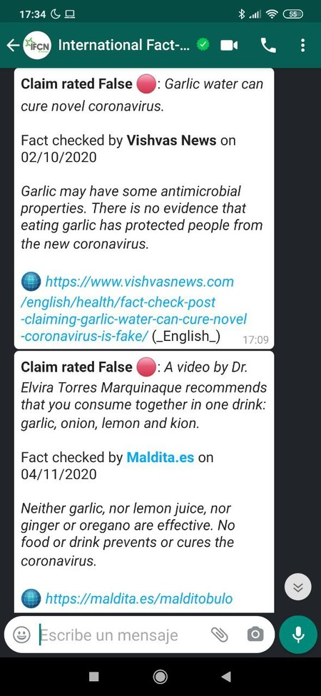 Fact Checking on WhatsApp with the IFCN bot