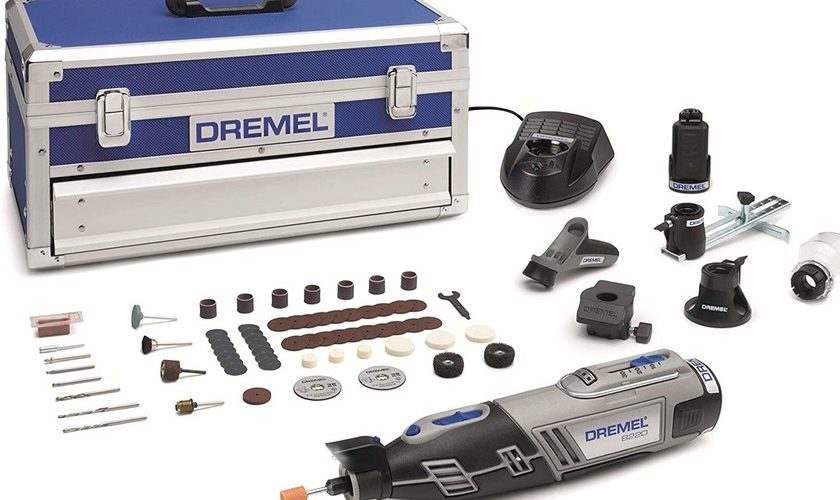 1593207988 The Dremel Platinum Edition 8220 multitool with two batteries and