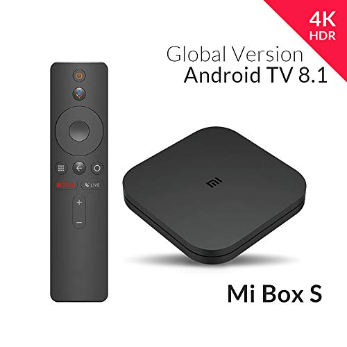 Xiaomi MiJia Mi Box S, EU Version, 4K Ultra HD Media Player with Google Remote Control Assistant, Bluetooth, Hdmi 4K HDR, Dolby Audio, DTS HD, Android 8.1, Black