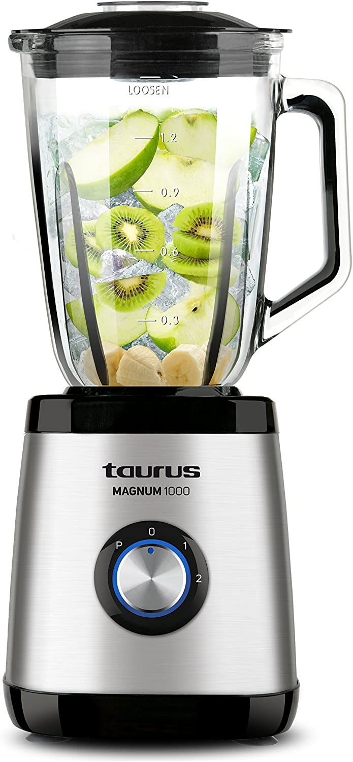 Taurus Optima Magnum Glass blender, 1000 W, 1.5 L, stainless steel [Clase de eficiencia energética A++]
