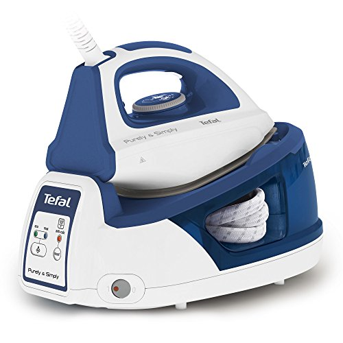Tefal SV5020 Purely & Simply 2200W 1.2L CeramicGlide Blue Sole, White - Ironing Centre (2200 W, 5 bar, 1.2 L, 100 g/min, CeramicGlide Sole, Blue, White)
