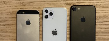 The 5.4-inch iPhone 12 on this model places it between an original iPhone SE and an iPhone 7