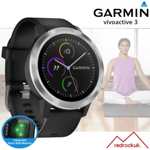 Garmin Vivoactive 3 GPS Multi Sport Smartwatch with Integrated Black/Silver Hrm