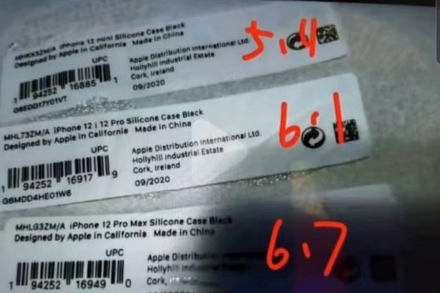 The name of the iPhone 12 mini appears on a