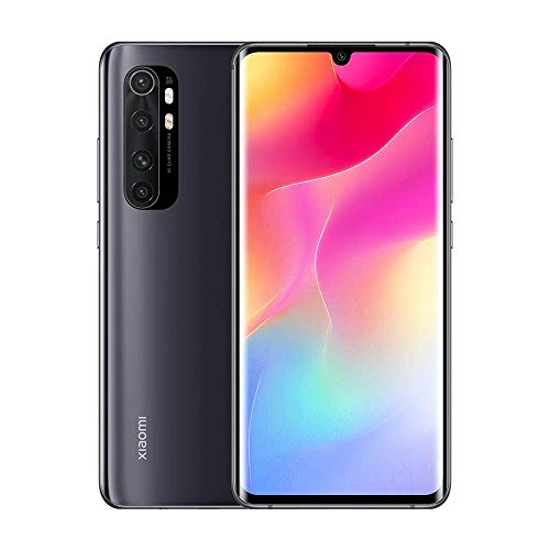 "Xiaomi My Note 10 Lite - Smartphone 6.47"" (AMOLED 3D curved screen, 6 GB RAM, 64 GB ROM, 64 MP quad camera, 5260 mAh battery) Midnight Black [International Version]"
