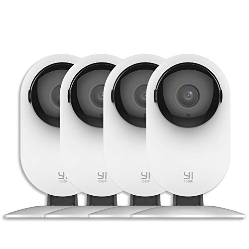 YI Indoor Surveillance Camera 1080P Dome IP Security Camera WiFi Wireless HD Pet with Night Vision Motion Detection - 4 Units