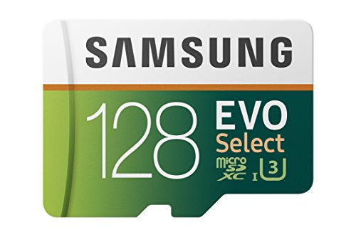 Samsung EVO Select Memory Card 128 GB microSD 100 MB/s, Speed, Full HD & 4K UHD, Includes SD Adapter for Smartphone, Tablet, Action Camera, Drone and Laptop