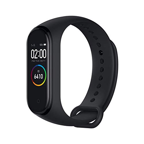 Xiaomi Band 4 Intelligent Fitness Wristband 135 mAh Heart Rate Monitor Bluetooth Color Display 5.0 plus Latest 2019, Black