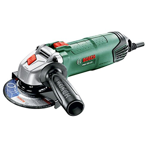 Bosch Mini Grinder PWS 750-115 (with diamond disc, 750 W and Ø 115 mm)
