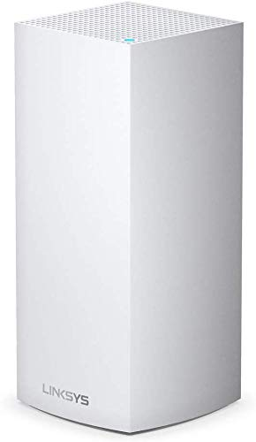 Linksys MX5300 - Velop WiFi 6 Mesh Triband System for the Entire Home (AX5300 WiFi Router/Extender for Coverage up to 260 m2, 4 Times Faster, 50+ Devices, Pack of 1) White