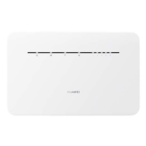 HUAWEI 4G Router 3 Pro B535 - Mobile WiFi 4G LTE (CAT.7) with WiFi access point, Support for automatic dual-band selection and beamforming, 4 Gigabit ports, Automatic installation, White