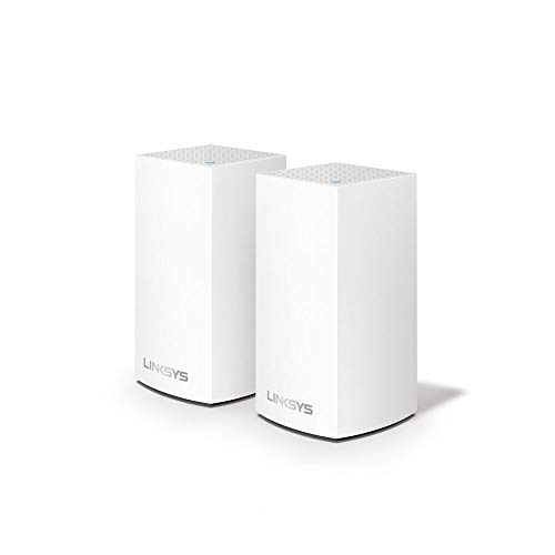 Linksys VLP0102 - Velop WiFi mesh system for the entire home (WiFi router/extender AC2400, no interruptions, parental controls, up to 260 m², 2-node pack, white)