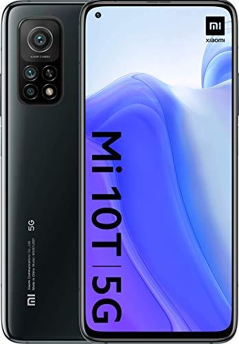 "Xiaomi Mi 10T (6.67 Screen"" FHD + DotDisplay, 8GB + 128GB, 64MP Camera, Snapdragon 865 5G, 5,000mAh with 33W charge) Cosmic Black [versión española], with Alexa Hands-Free"