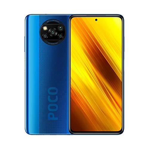 "Poco X3 NFC (6.67 AMOLED screen"" FHD +, DotDisplay, 6GB + 64GB, 64MP Quad Camera, Snapdragon 732G, 5160mAh with 33W Charge, MIUI 12 for Poco, NFC) Cobalt Blue"