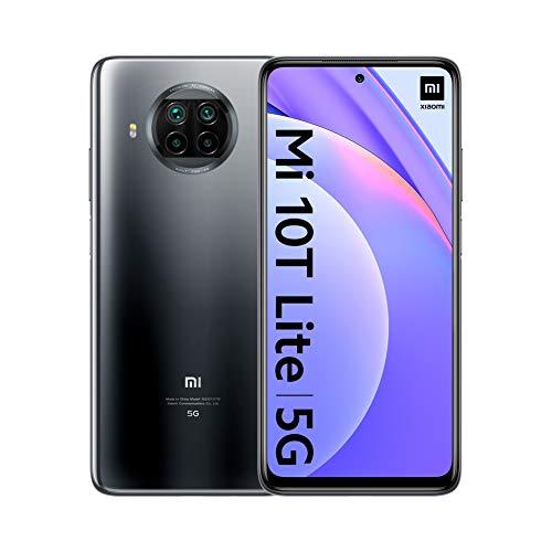 "Xiaomi Mi 10T Lite 5G - Smartphone 6 + 64GB, 6.67"" FHD + DotDisplay, Snapdragon 750G, 64MP AI Quad Camera, 4820 mAh, Pearl Gray (Official Version), with Alexa Hands-Free"