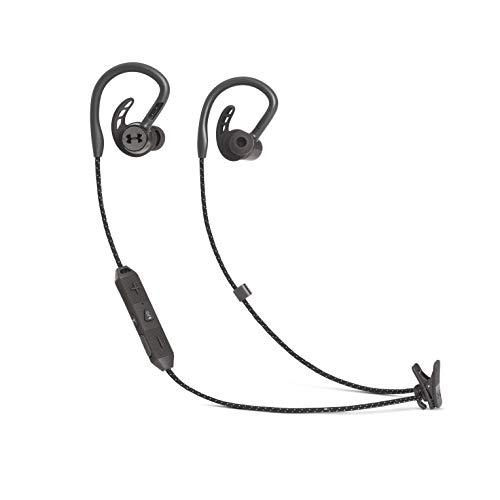 Under Armor PIVOT - Wireless sports headphones, with Bluetooth, Bionic earphone and earhook for a better fit, Water resistant (IPX7), Up to 9 hours of music, Color Black