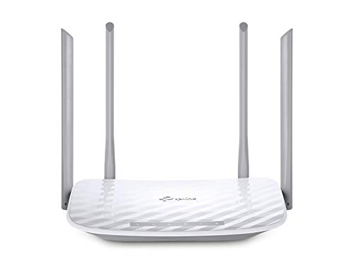 TP-Link Archer C50 - Dual Band Wi-Fi Router, 1200 Mbps, 2.4 GHz to 300 Mbps and 5 GHz to 867 Mbps, 4 External Dual Band Antennas, Fast Ethernet, 100 Mbps Port, White