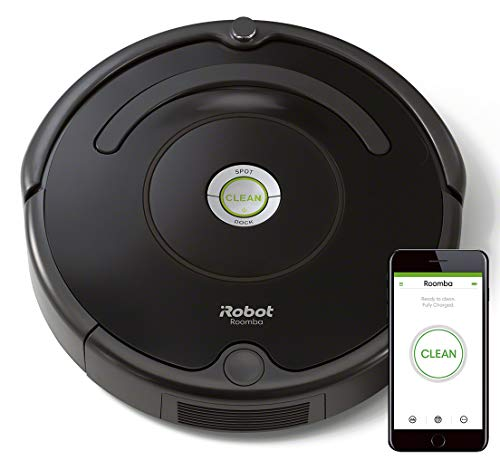 iRobot Roomba 671 Robot vacuum cleaner hard floors and carpets, Dirt Detect technology, cleaning in 3 phases, Wifi, programmable by app, compatible with Alexa, Black