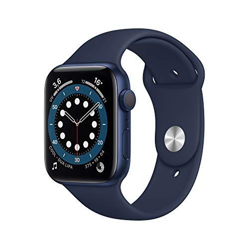 Apple Watch Series 6 (GPS, 44mm) Blue Aluminum Case - Deep Navy Sport Band
