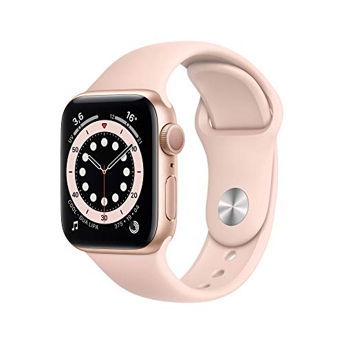 Apple Watch Series 6 (GPS, 40mm) Gold Aluminum Case with Pink Sand Sport Band