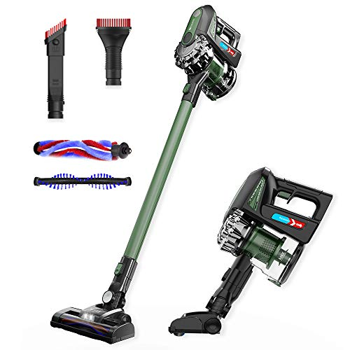 Proscenic New for 2020 P8 MAX Powerful Cordless Vacuum Cleaner 20kPa, Brushless Motor, Handheld 2 in 1 with Various Accessories, removable Lithium-Ion battery and Rechargeable 35 mins autonomy