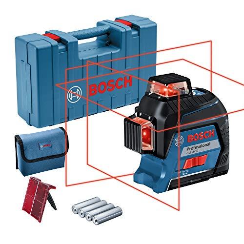 Bosch 0601063S00 Laser Level (range up to 30 m, 4 AA batteries, in case), Blue
