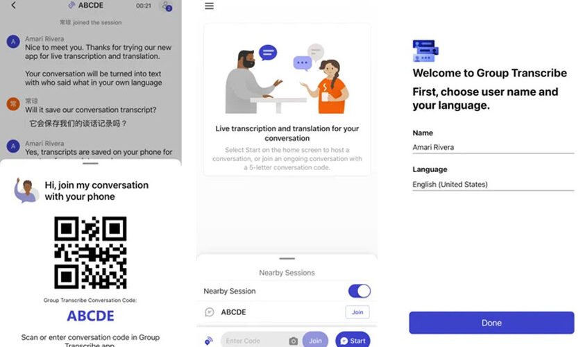 1615116183 Microsoft launches Group Transcribe for iOS an app to transcribe