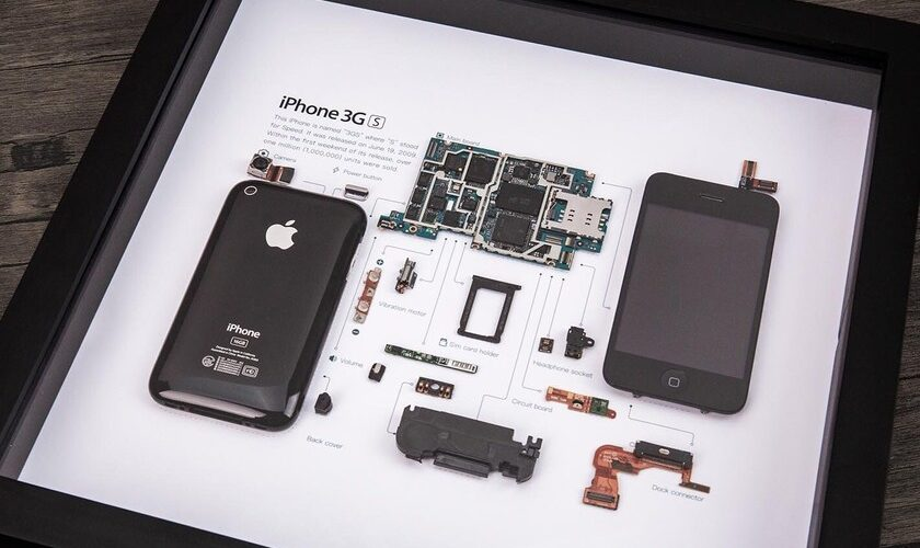 1616726855 This deconstructed and framed iPhone 3GS is also a work