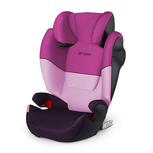 Cybex Silver Solution M-fix 519001119 Child Car Seat, Group 2/3, for Cars with and without Isofix, Color 2021 Collection, Purple (Purple Rain)
