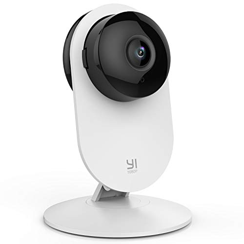 YI Surveillance Camera, Wifi IP Camera 1080p Full HD Security System, Motion Detection, Night Vision, 2-Way Audio and Cloud with App for iOs and Android (White)