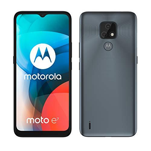 "Motorola Moto E7 - 6.5 Smartphone"" (HD + MAX Vision, 48 MP Dual Camera System, 4000 mAH Battery, Dual SIM, 2 / 32GB, Android 10), Gray [Versión ES/PT]"