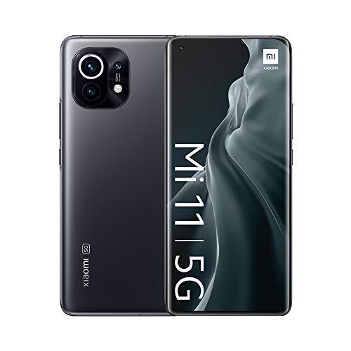 "Xiaomi Mi 11 5G - Smartphone 8GB + 128GB, 6.81"" WQHD + AMOLED DotDisplay, Qualcomm Snapdragon 888, 108MP + 13 MP + 5MP triple camera, 4600 mAh, NFC, Midnight Gray (Official version)"