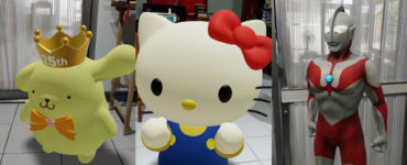 1618966381 Pac Man Hello Kitty Gundam and other 3D characters come to