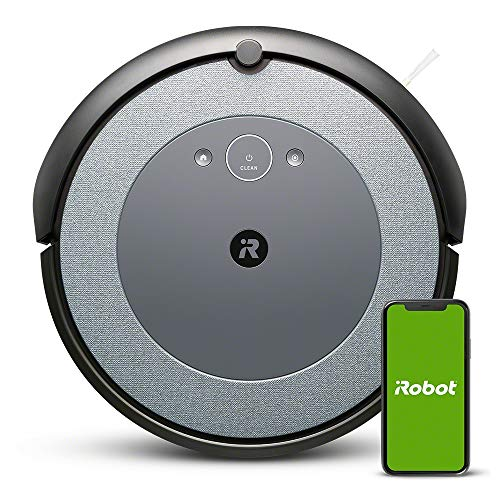 iRobot Roomba i3152 - Robot Vacuum Cleaner with mapping, Wi-Fi and Two multi-surface Rubber brushes, optimal for Pets, Compatible with Voice assistants and Imprint coordination, Blue Gray Color