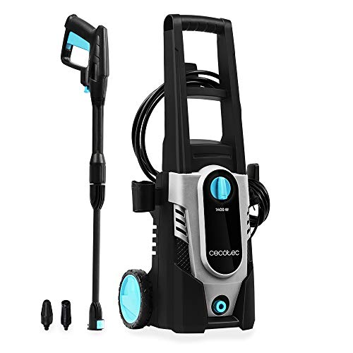 Cecotec HidroBoost 1400 EasyMove pressure washer.  Compact, powerful and portable.  Wheels and high handle.  Max power 1400 W. Max flow 408 l / h.  105 bar max.  Turbo nozzle and adjustable nozzle.