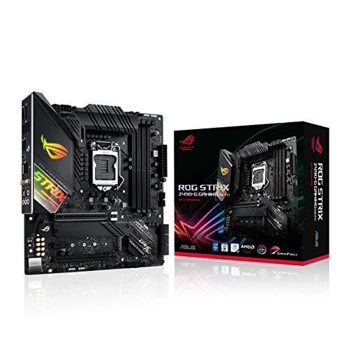 ASUS ROG Strix Z490-G Gaming (WI-FI) - Intel 10th Gen LGA 1200 mATX Gaming Motherboard with 14 Phase VRM, AI Overclocking, WiFi 6, 2.5 Gigabit LAN, USB 3.2 Gen 2, SATA and RGB Aura Sync lighting