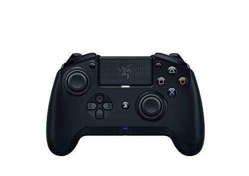 Razer Raiju Tournament 2019 Wired and Wireless Gaming Controller for PS4 and PC, Wired Bluetooth Gaming Controller, Action Buttons, Interchangeable Sticks, Mobile App, Black