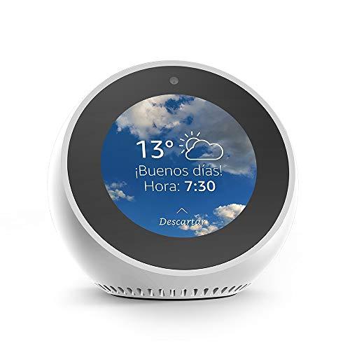 Amazon Echo Spot Smart Alarm Clock with Alexa, White